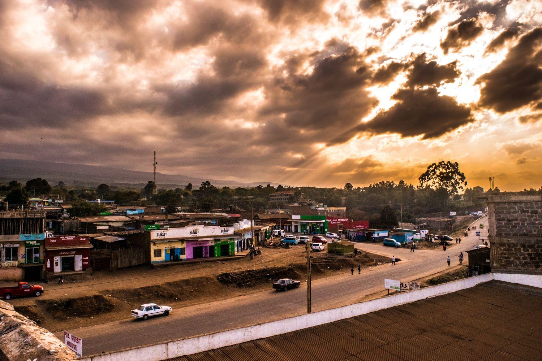 How The Sun Sets In Loitokitok Town