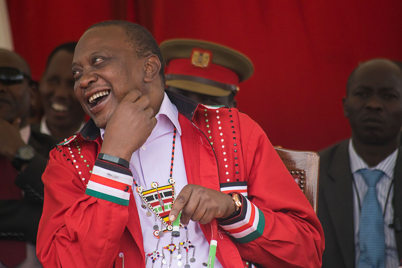 The President's Laugh: Uhuru Muigai Kenyatta laughing