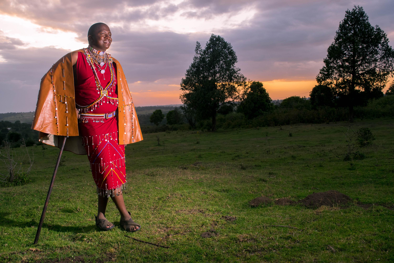Maasai Man Poses