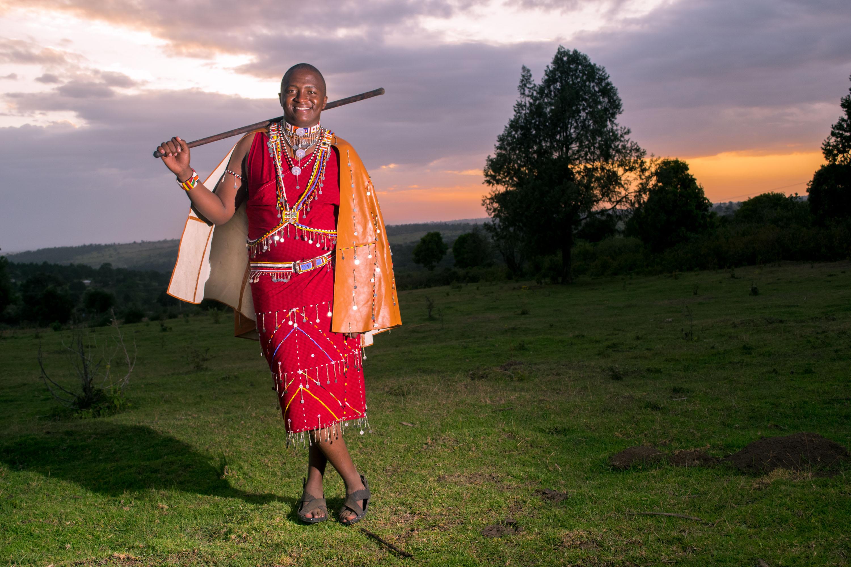 Maasai Man Pose