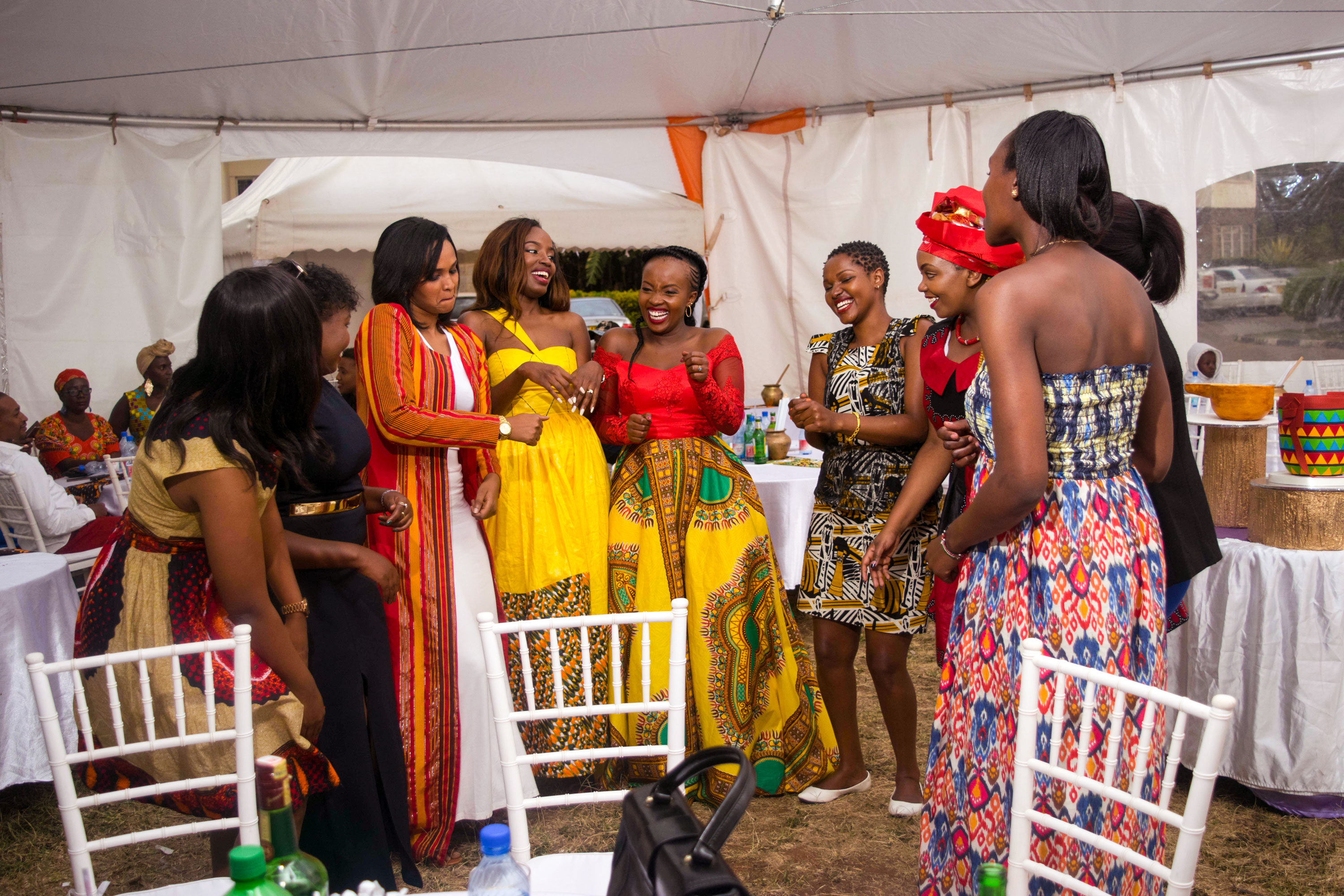 Ladies Dance At A Pre-Wedding Event