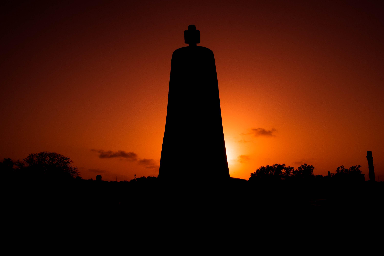 Malindi'S Silhouetted Vasco Da Gamma Pillar