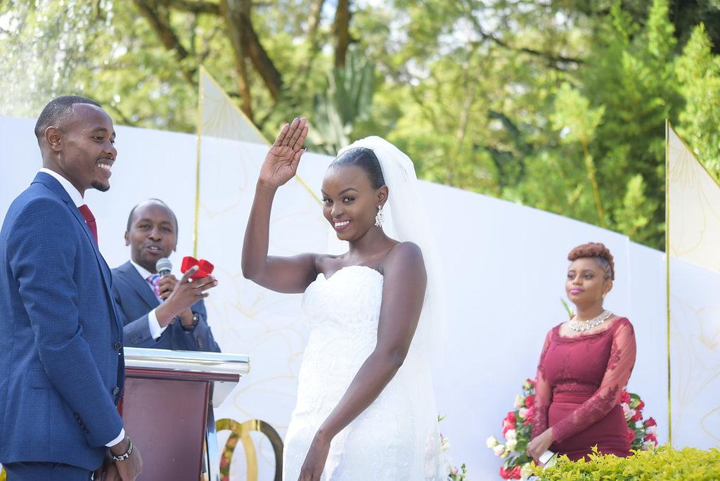 Bride Waves To Single Men
